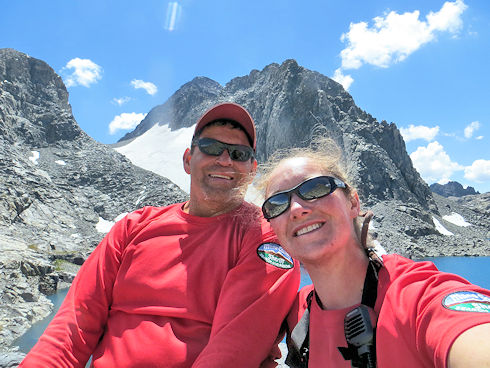 Team 1 - Rick Dodson and Megan Guffey on North Glacier Pass