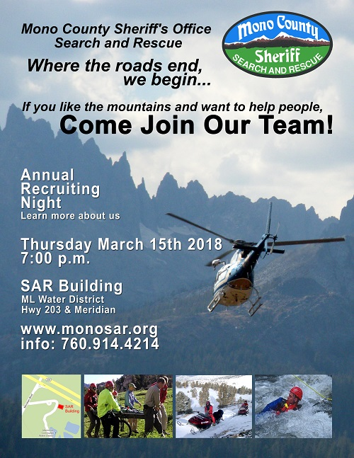 SAR Recruitment March 15, 2018